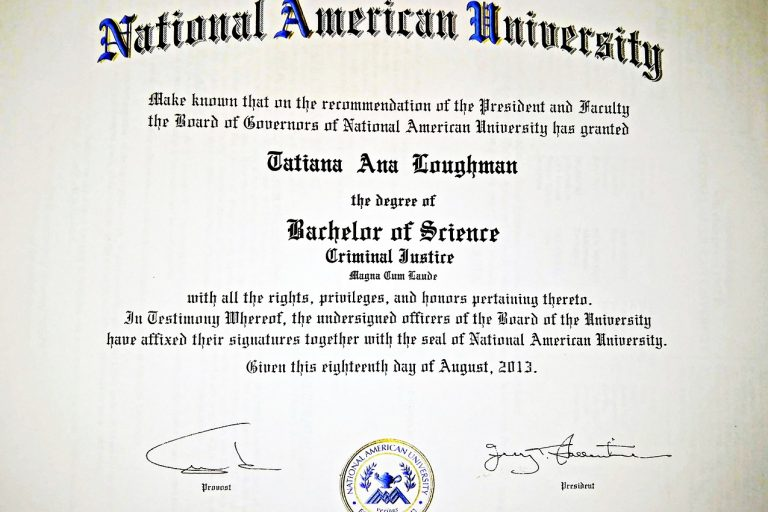 Bachelors in Criminal Justice