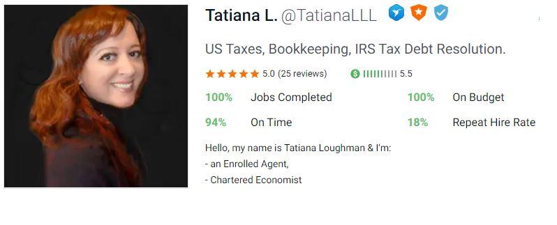 Tatiana Loughman 5 star feedback