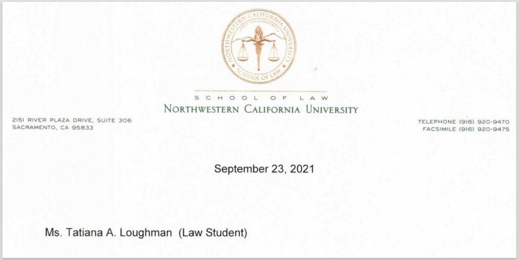 Tatiana Loughman, EA Law Student