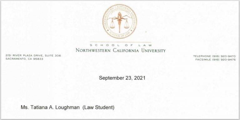 Tatiana Loughman Law Student